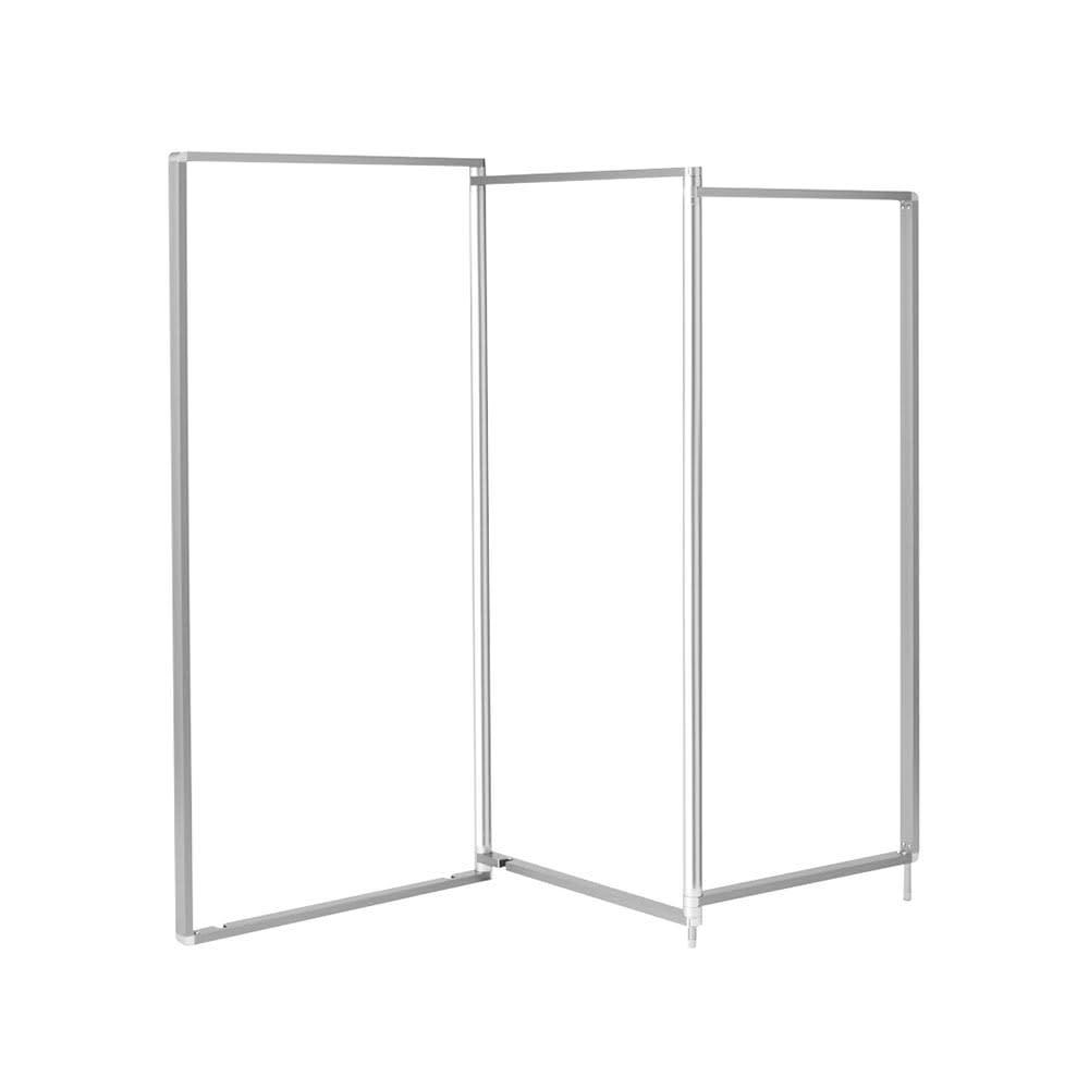 アルミ製 薄型ランドリースタンド3連 (室内 屏風型物干し) コンパクトなサイズ感なので、リビングや寝室でも圧迫感なく設置できます