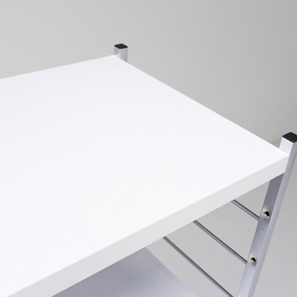 モダンランドリーラック 棚3段 (イ)ホワイト
