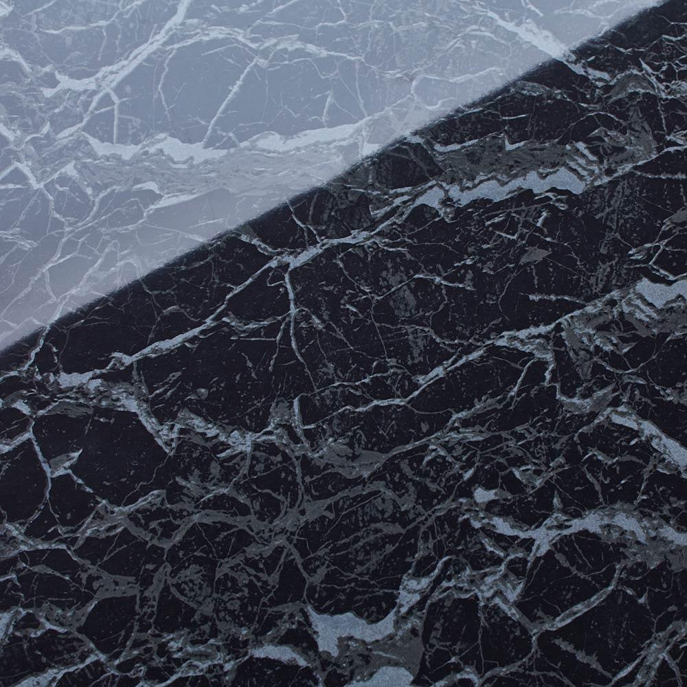 Marblenome/マーブルノーム サニタリーチェスト 幅30奥行30cm (イ)ブラック天板アップ。光沢のある質感のメラミンシートを使用しています