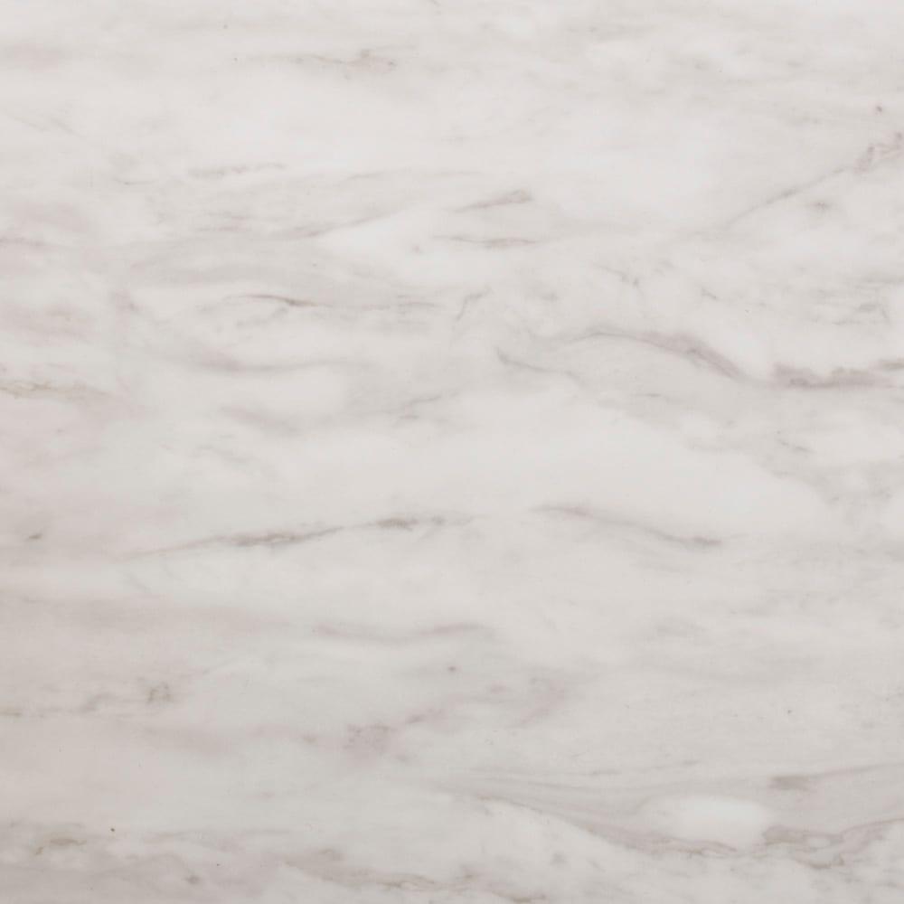 Marblenome/マーブルノーム サニタリーチェスト 幅45奥行45cm (ア)ホワイト天板アップ。マットな質感のマーブル模様のメラミンシートを使用しています