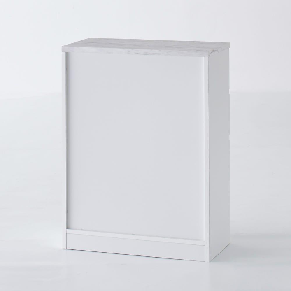 Marblenome/マーブルノーム サニタリーチェスト 幅45奥行45cm (ア)ホワイト背面。背面も美しい化粧仕上げです