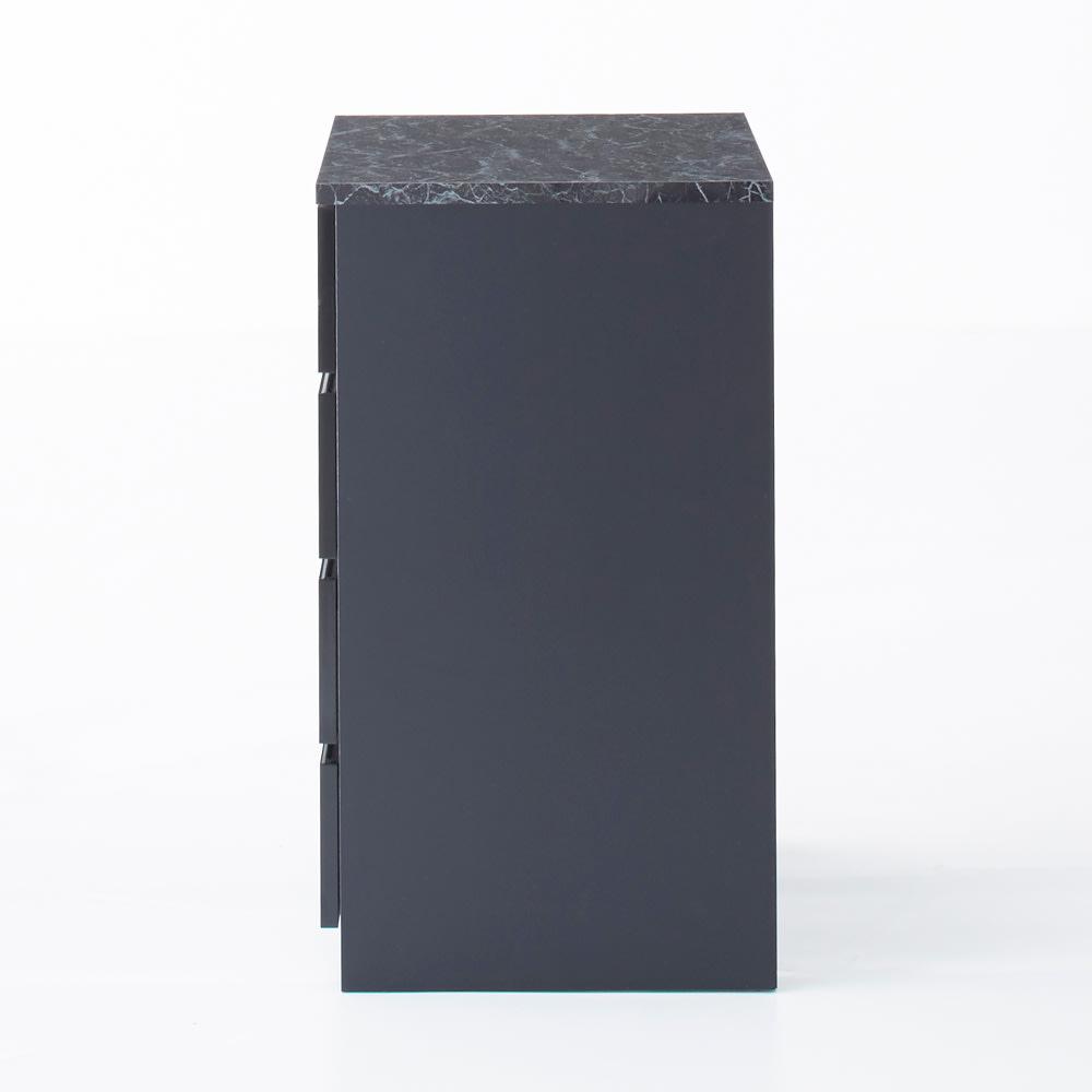 Marblenome/マーブルノーム サニタリーチェスト 幅60奥行45cm (イ)ブラック 側面まで美しい化粧仕上げです