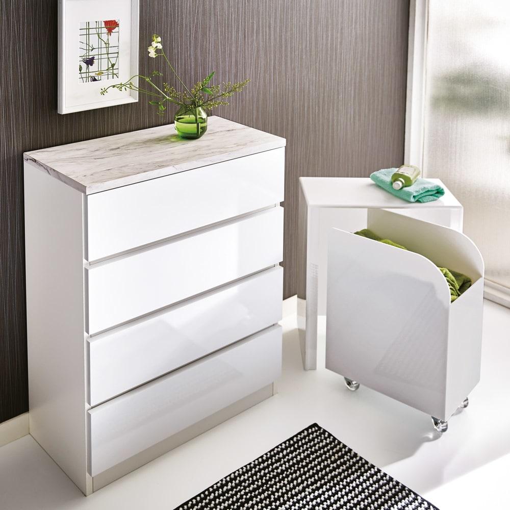 家具 収納 トイレ収納 洗面所収納 Marblenome/マーブルノーム サニタリーチェスト 幅60奥行45cm H84814