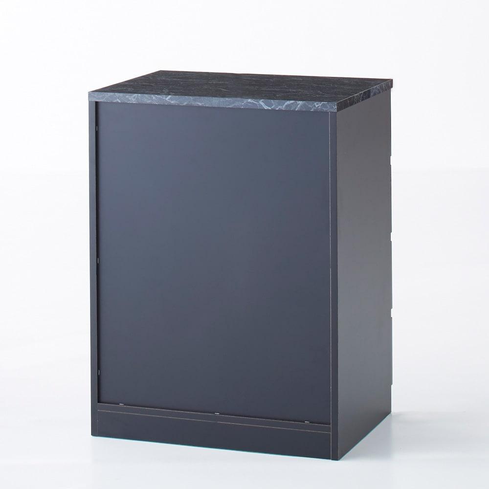 Marblenome/マーブルノーム サニタリーチェスト 幅60奥行45cm (イ)ブラック背面。背面も美しい化粧仕上げです
