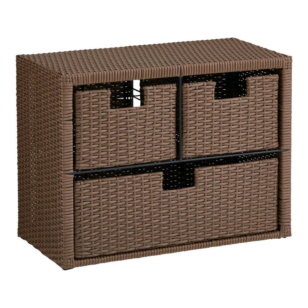 家具 収納 トイレ収納 洗面所収納 Nelia/ネリア ラタン調 ドレッシングルームベンチ 引き出し 幅60cm H84902