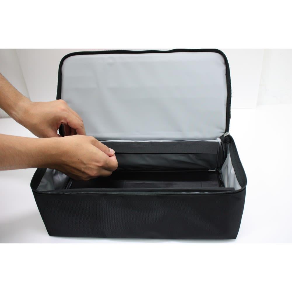 ROLSER/ロルサー ショッピングカート 4輪カート+保冷・保温付きバッグ ワイヤーを立てるだけで簡単にセッティングできます。