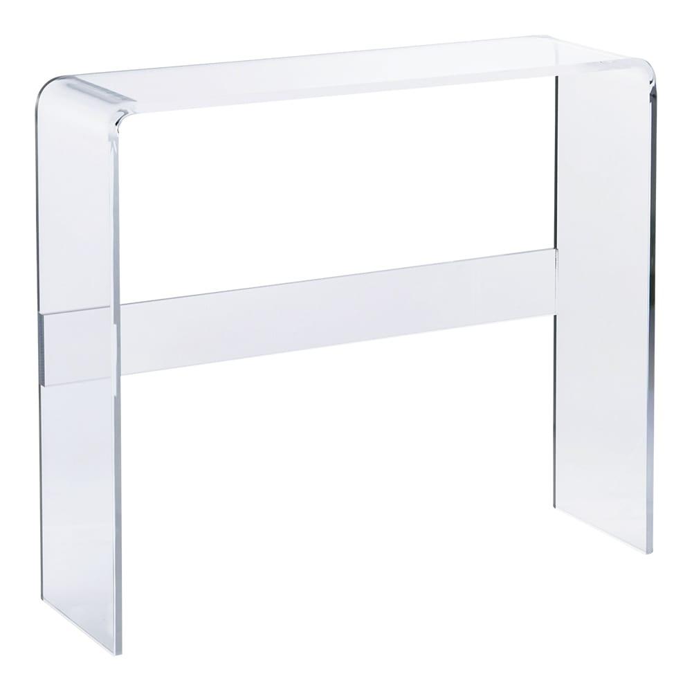 Gel/ジェル アクリルコンソールテーブル 写真は幅80cmタイプです。