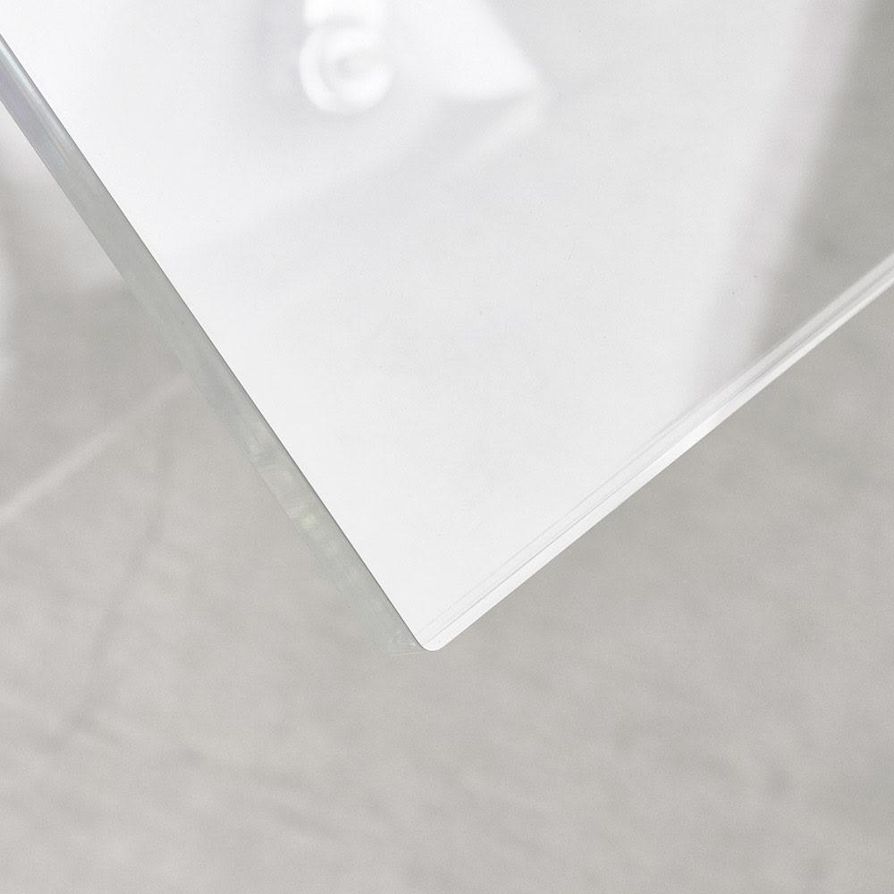 Gel/ジェル アクリルキャスター付きサイドテーブル 幅35cm高さ58.5cm