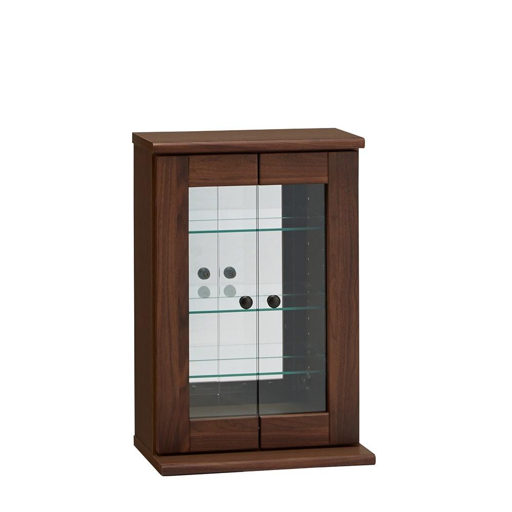 家具 収納 本棚 ラック シェルフ コレクションラック ディスプレイラック Taide/タイデ 天然木卓上キュリオケース 幅40cm高さ60cm H85504
