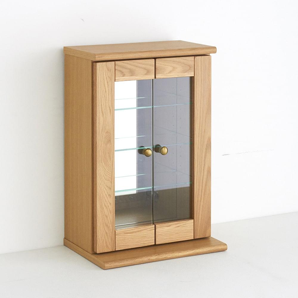 Taide/タイデ 天然木卓上キュリオケース 幅40cm高さ60cm