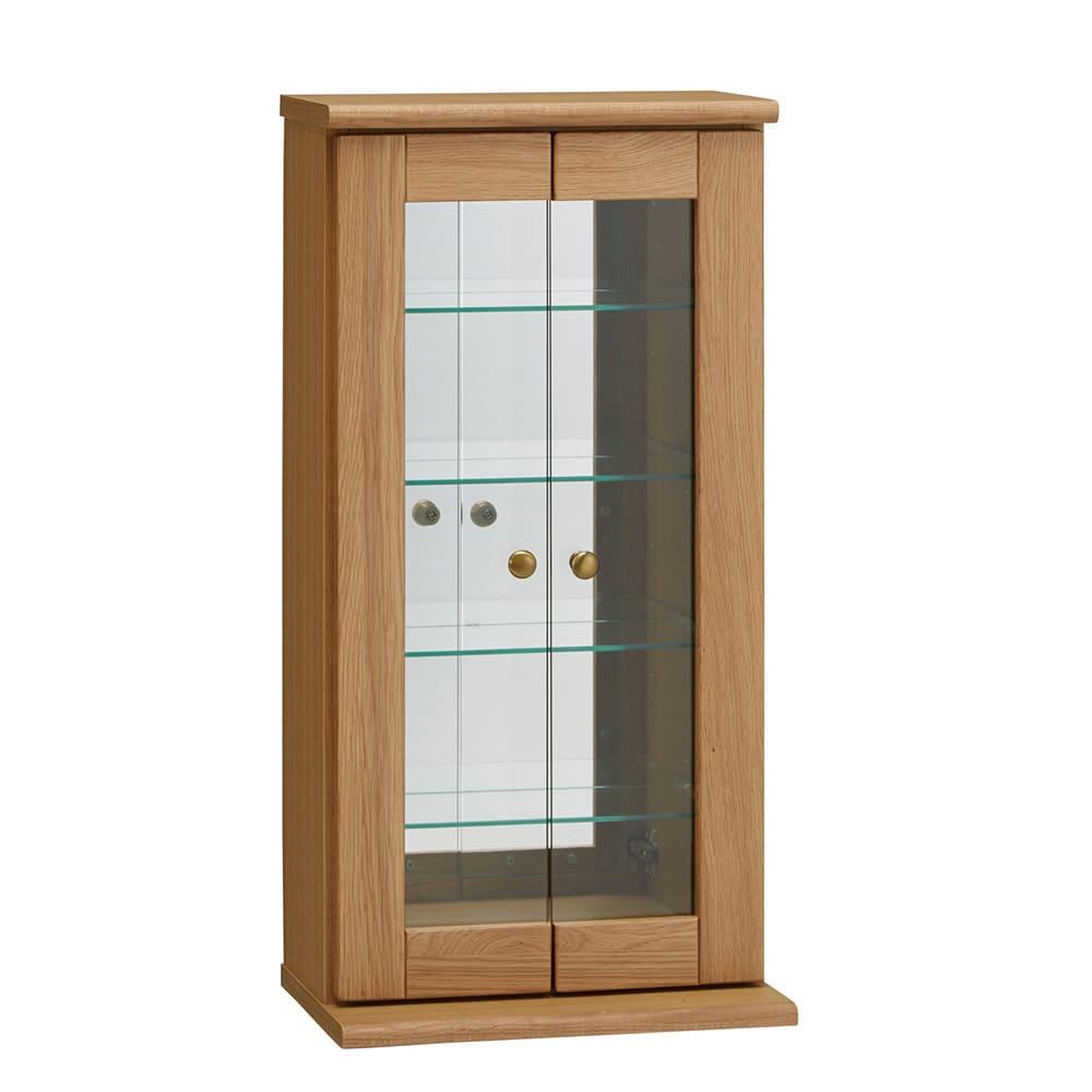 家具 収納 本棚 ラック シェルフ コレクションラック ディスプレイラック Taide/タイデ 天然木卓上キュリオケース 幅40cm高さ80cm H85505