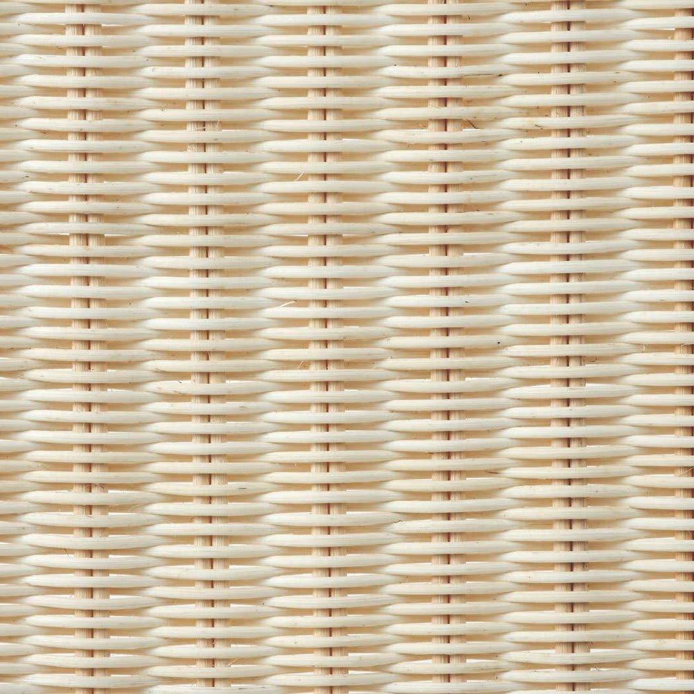 Spesso/スペッソ 折り畳みパーテーション 4連 高さ160cm (ウ)ホワイト ラタンをホワイトで着色。軽やかで明るい雰囲気を演出します。