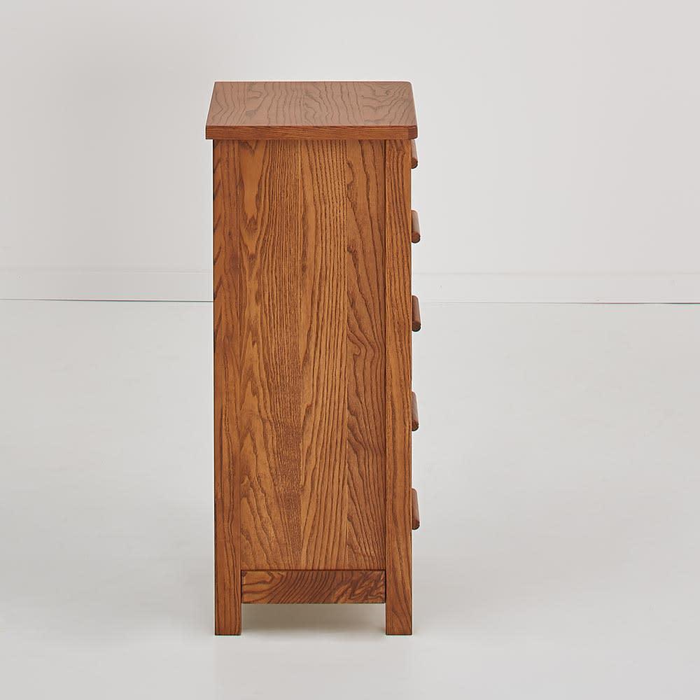 Kasvi/カスビイ コンパクト収納 スリムチェスト 幅34cm高さ78cm サイドには装飾の木フレームが付き、横から見てもおしゃれなデザイン。