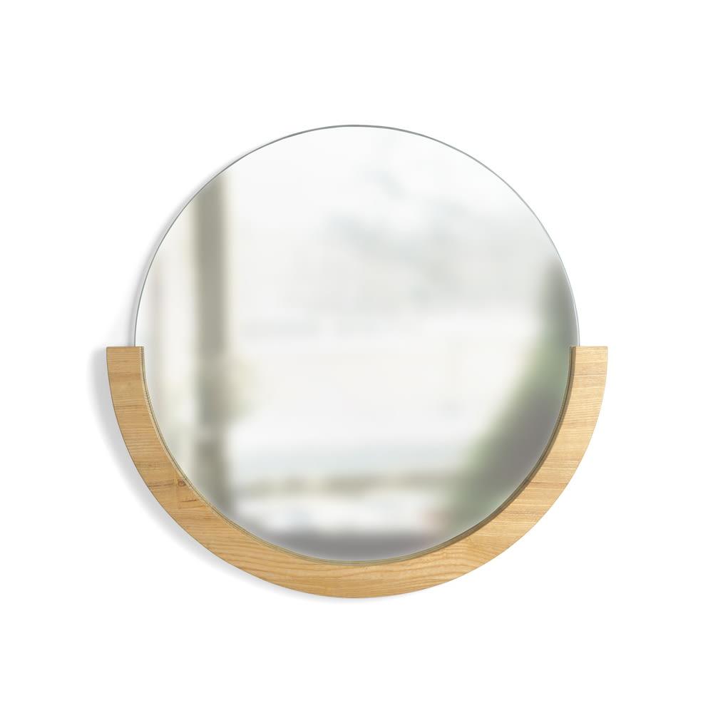 MIRA/ミラ 壁掛けミラー・ウォールミラー 小サイズ径56cm[umbra・アンブラ] ナチュラル