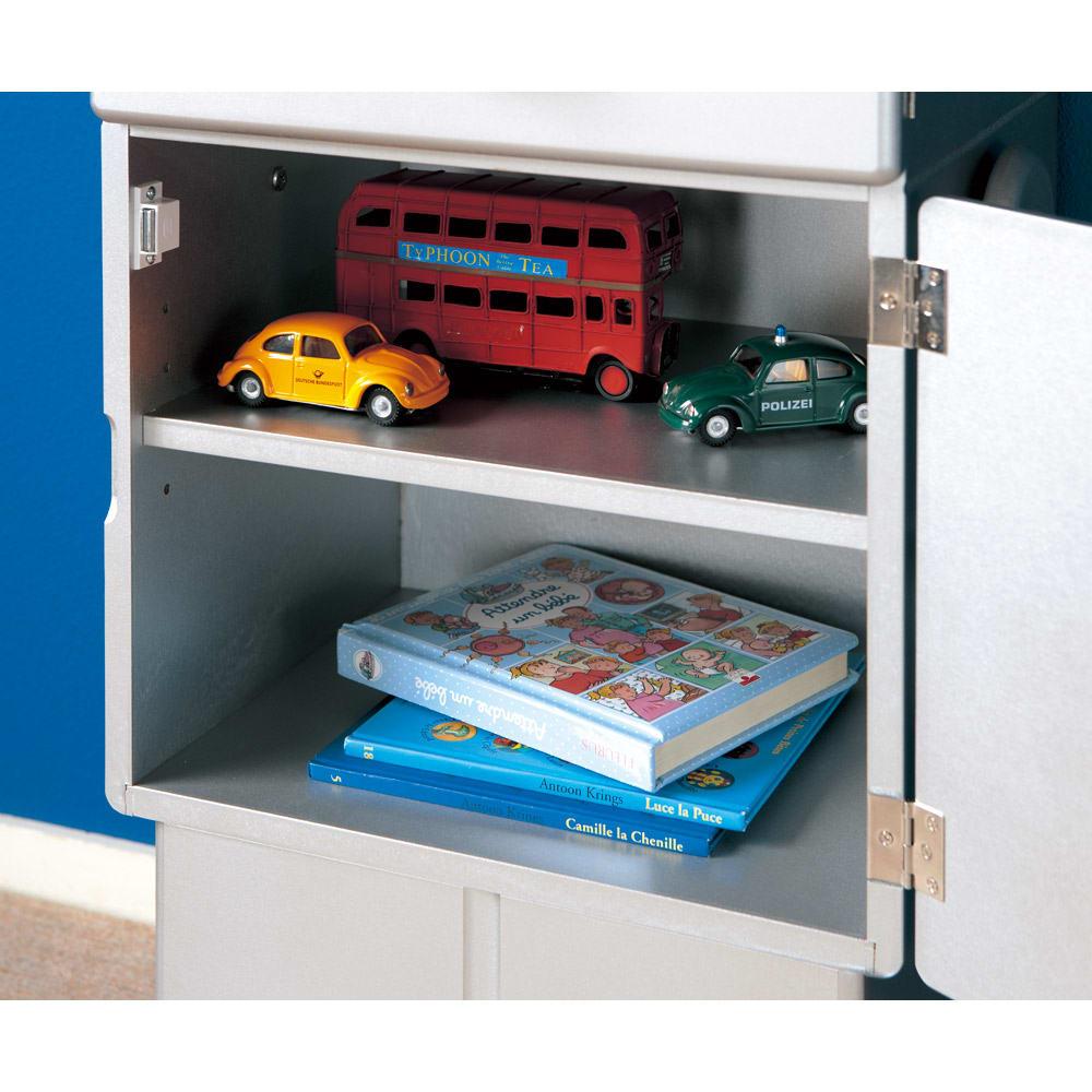 ROBIT/ロビット 収納ロボ[ete・えて ] お腹の中は可動棚板付きで、本やおもちゃを整理収納できます