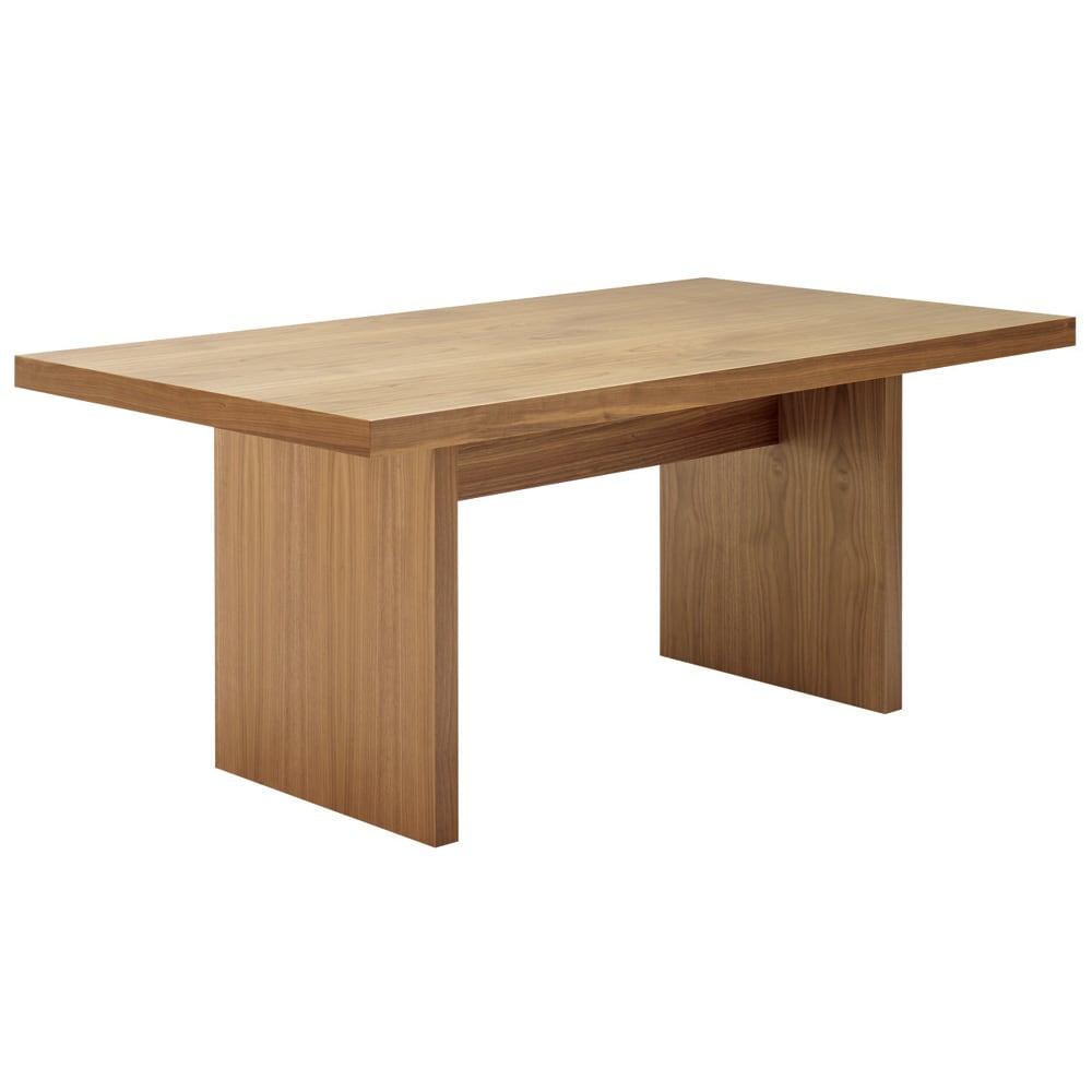 Multi マルチダイニングテーブル パネルレッグタイプ 幅160cm 色見本:ウォルナット