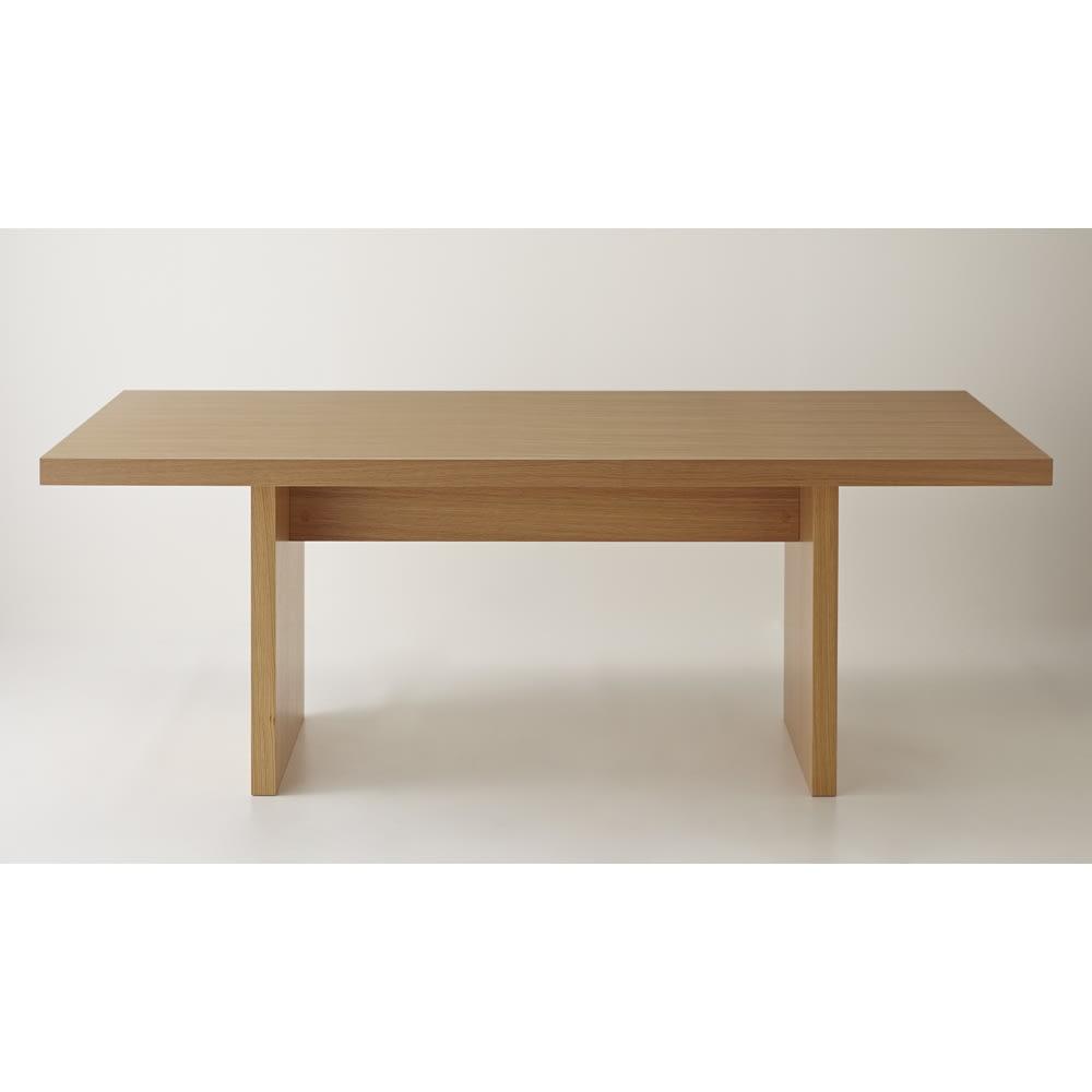 Multi マルチダイニングテーブル パネルレッグタイプ 幅160cm 正面 脚間のサイズは99cmです。お手持ちのチェアの幅をご確認ください。