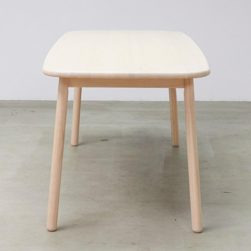 Ridge/リッジ ダイニングセット 天然木長方形テーブル5点セット テーブル幅160cm×75cm 奥行きは75cmとやや小さめサイズ。