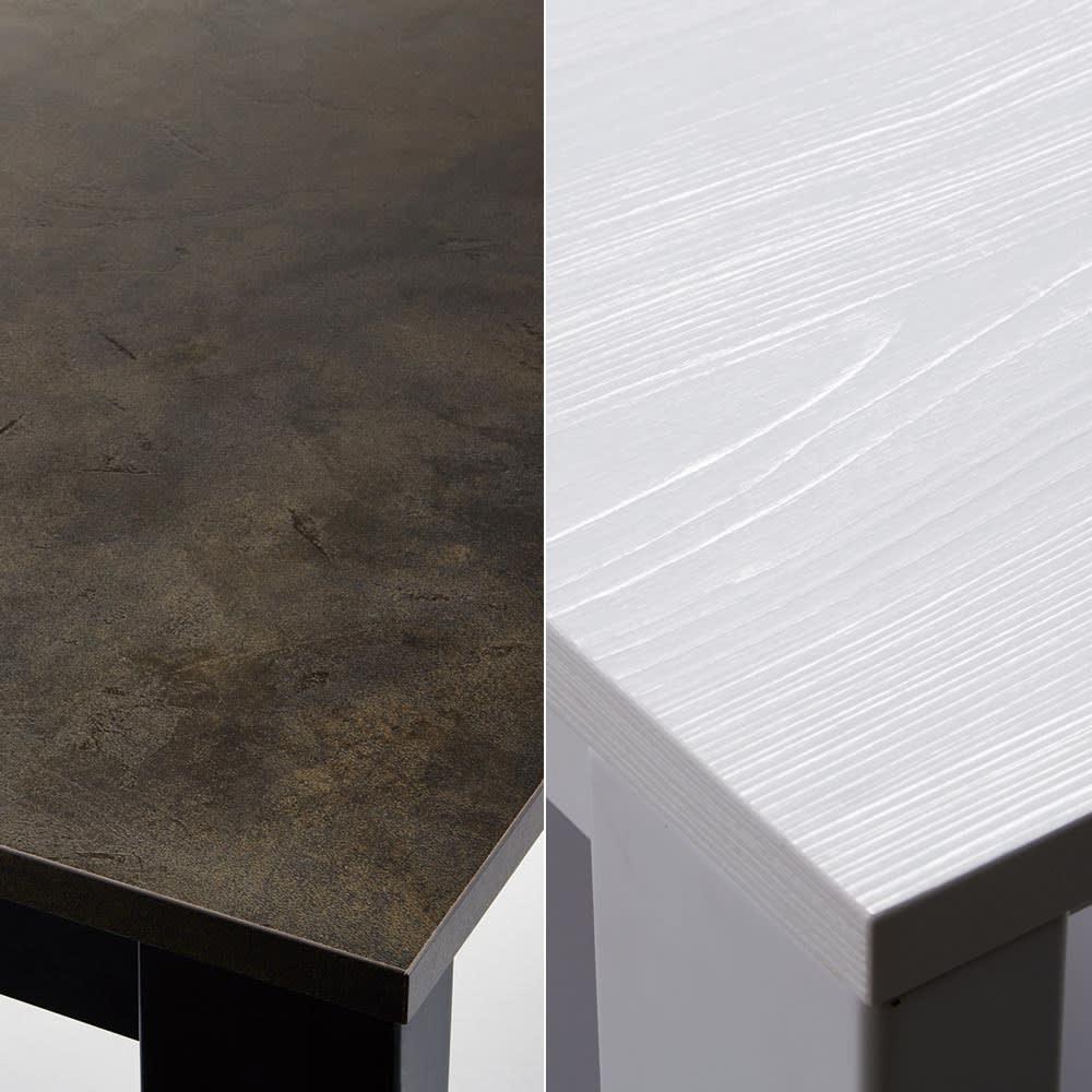 5点セット イタリア製伸長式ダイニングテーブル+NewYorkチェア4脚  テーブル幅130cm(伸長時190cm) ボリュームある天板は美しい仕上げ。メラミンは水や汚れ、磨耗に強く、お手入れも簡単。色はブラックとホワイト