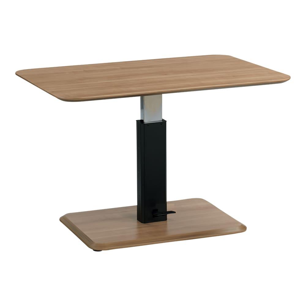 ホワイト・4点セット[テーブル幅120cm×80cm] HORA/ホーラ LDソファシリーズ ナチュラル 天板の高さは57~75cmで変えることができます。
