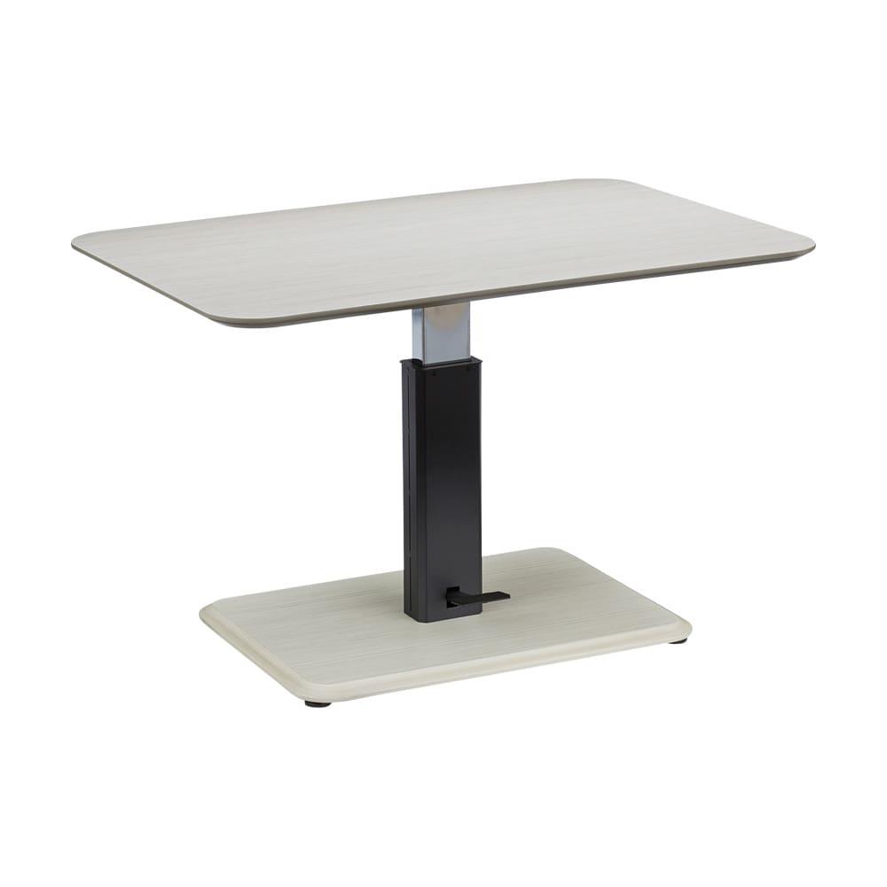 ホワイト・4点セット[テーブル幅120cm×80cm] HORA/ホーラ LDソファシリーズ ホワイト 天板の高さは57~75cmで変えることができます。