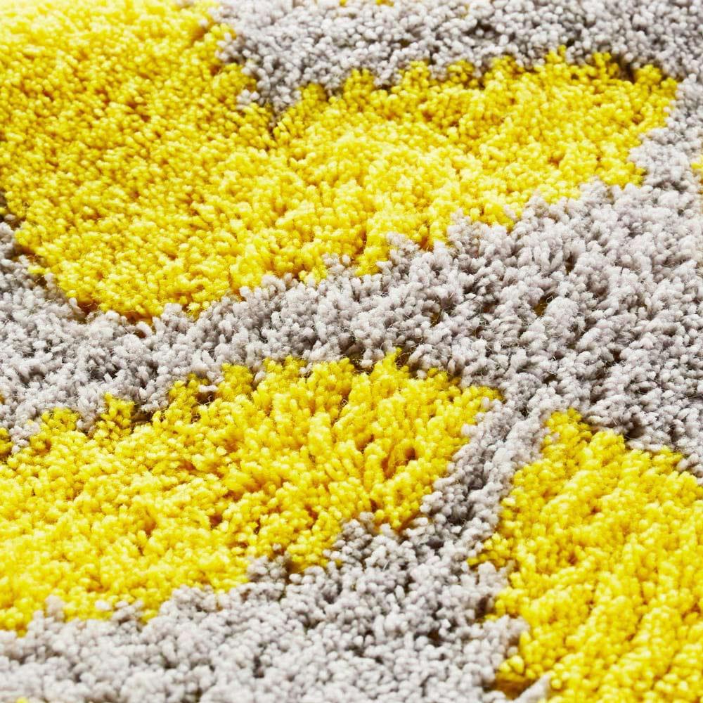 抗菌防臭加工ハート柄 キッチンマット 約50cm×180cm ア)グレー生地アップ