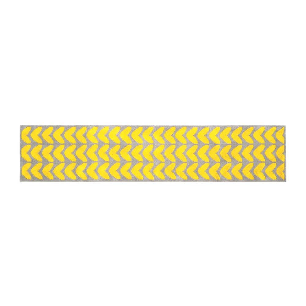 カーテン 敷物 ソファカバー カーペット ラグ マット キッチンマット 抗菌防臭加工ハート柄 キッチンマット 約50cm×210cm H86315