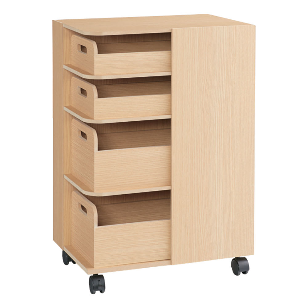 家具 収納 キッチン収納 食器棚 キッチンカウンター カウンターワゴン 収納マルチワゴン 4段 キャスター付き H86510