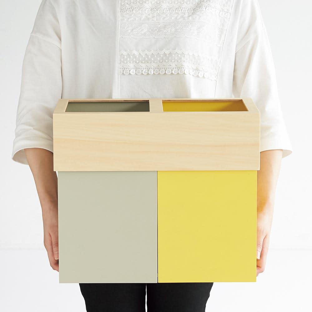 W-CUBE 2分別ダストボックス コンパクトなサイズ感で、リビングやホームオフィス、書斎、子供部屋にもおすすめです。