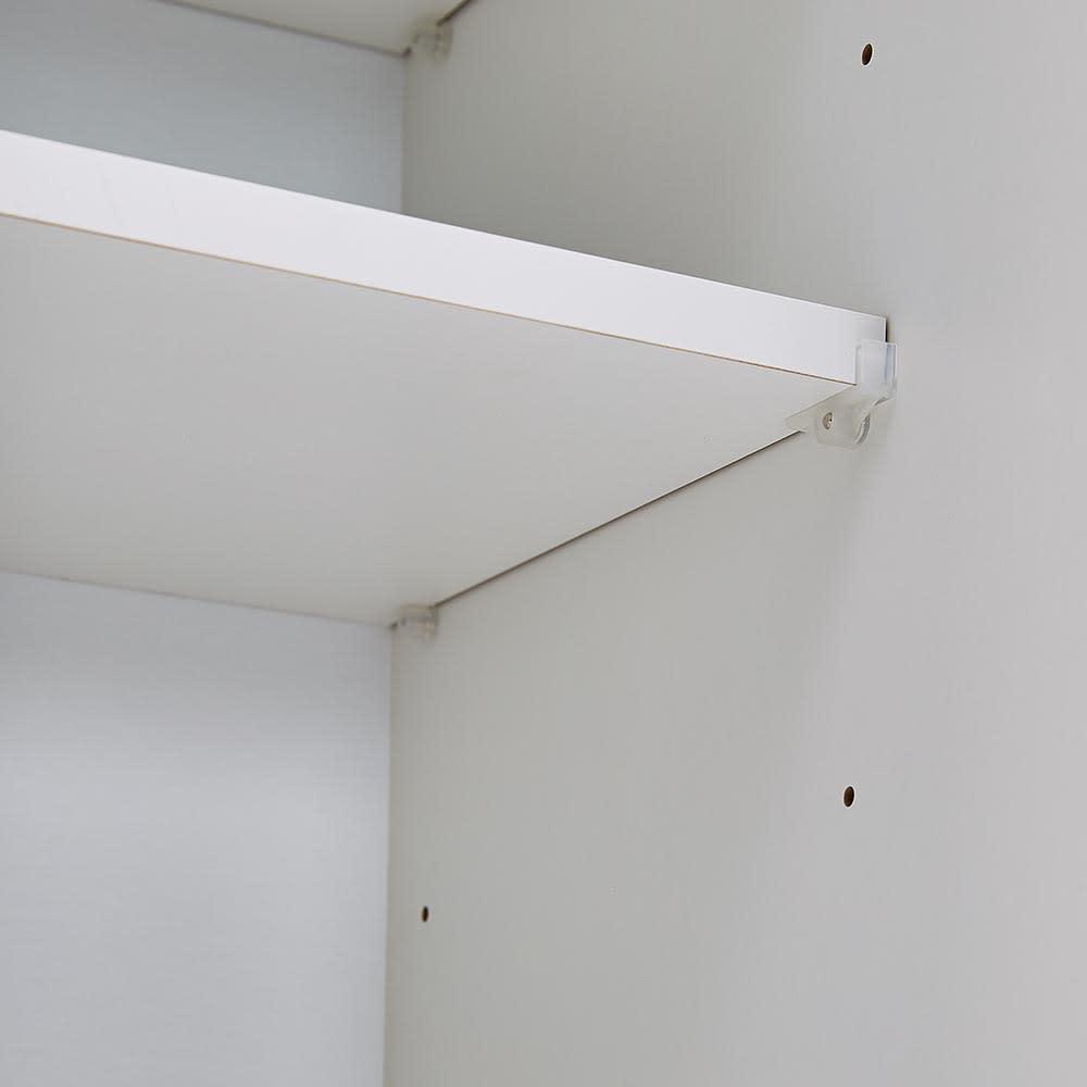 Torerant/トレラント コンパクトレンジカウンター 幅89.5cm・家電収納2段(高さ115cm) 棚板は収納物に合わせて6cmピッチで調整可能です。