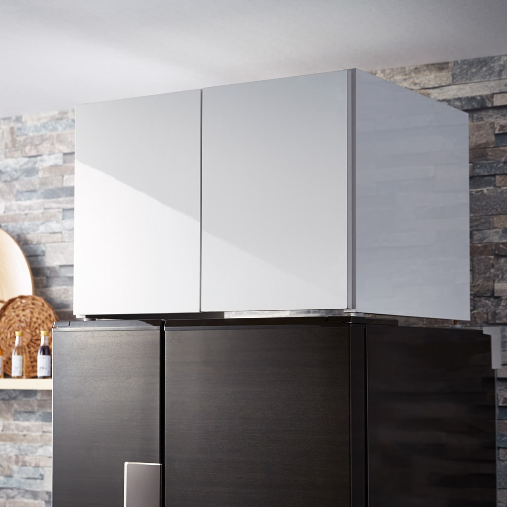 Fareed/ファリド 冷蔵庫上ストッカー 幅65cm ホワイト