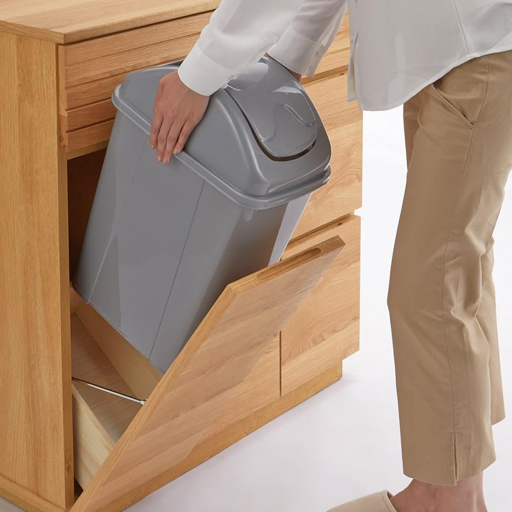 Large/ラルジュ 横格子ダストボックス 3分別(ペール3個付き) 幅82cm奥行40cm高さ87.5cm ペールは取出せるので、お手入れも簡単。