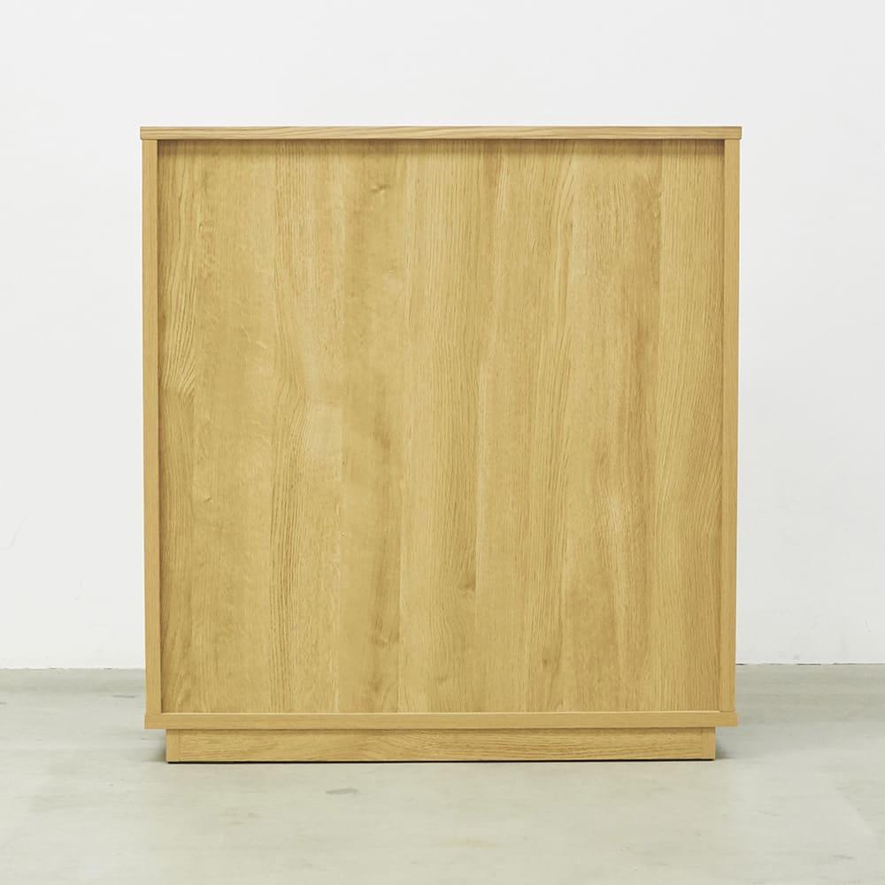 Large/ラルジュ 横格子ダストボックス 3分別(ペール3個付き) 幅82cm奥行40cm高さ87.5cm 背面(イ)オーク