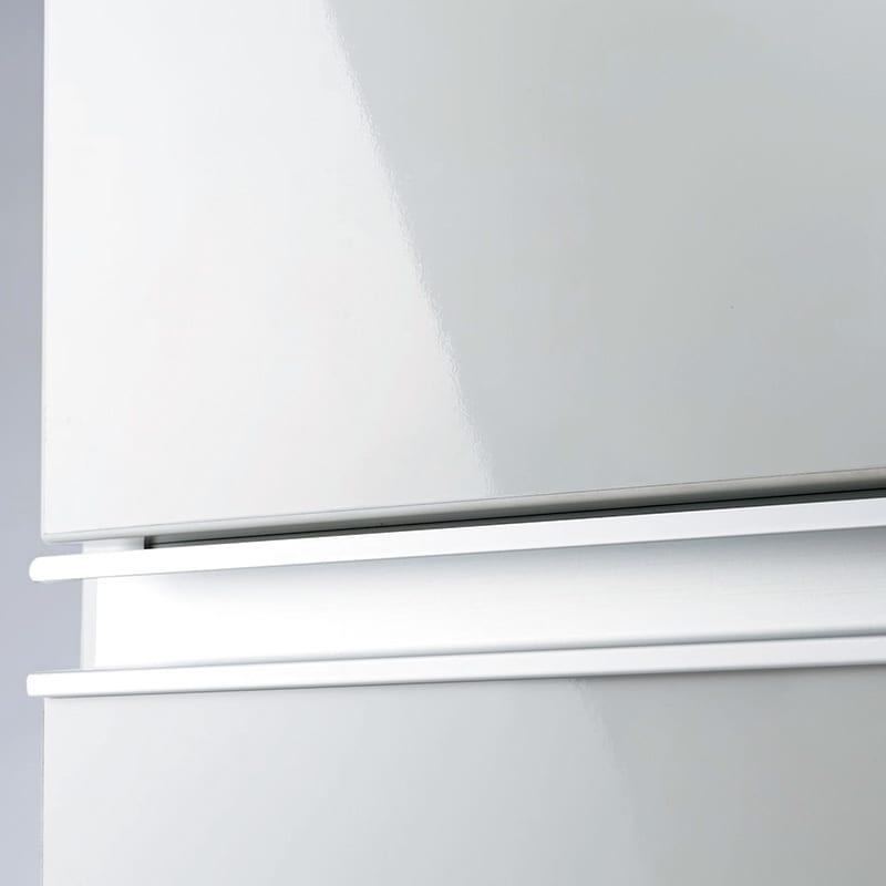Anya/アーニャ キッチンすき間収納 ロータイプ(引き出し3段) 幅25cm奥行55cm高さ85cm 表面は光沢PET樹脂の化粧仕上げ。水や汚れを気にせずに。