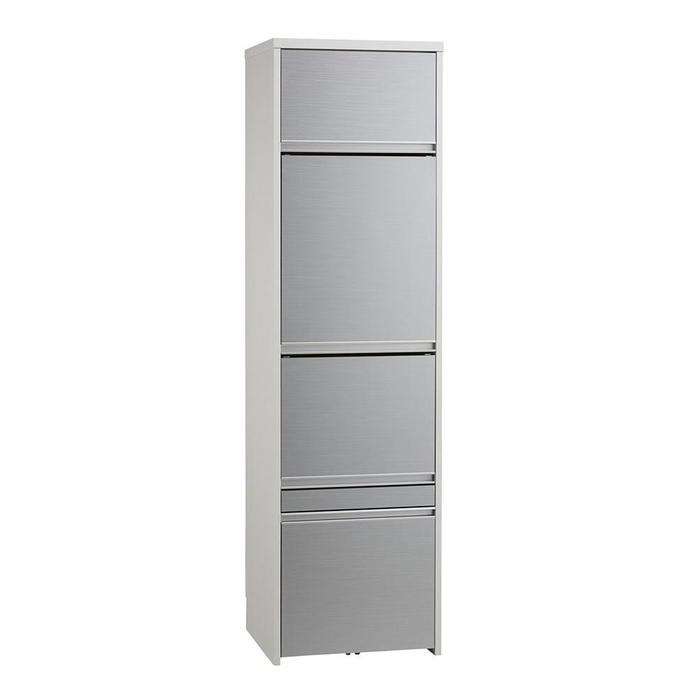 家具 収納 キッチン収納 食器棚 レンジ台 レンジラック キッチンラック Ymir/ユミル 隠せる家電収納 幅55奥行45cm高さ178cm H87313