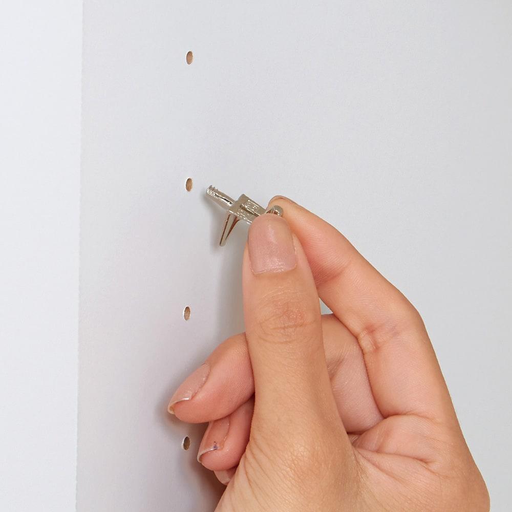 Ymir/ユミル 隠せるストッカー 幅45奥行55cm高さ178cm 棚板は収納物にあわせて3cm間隔で調整可能。