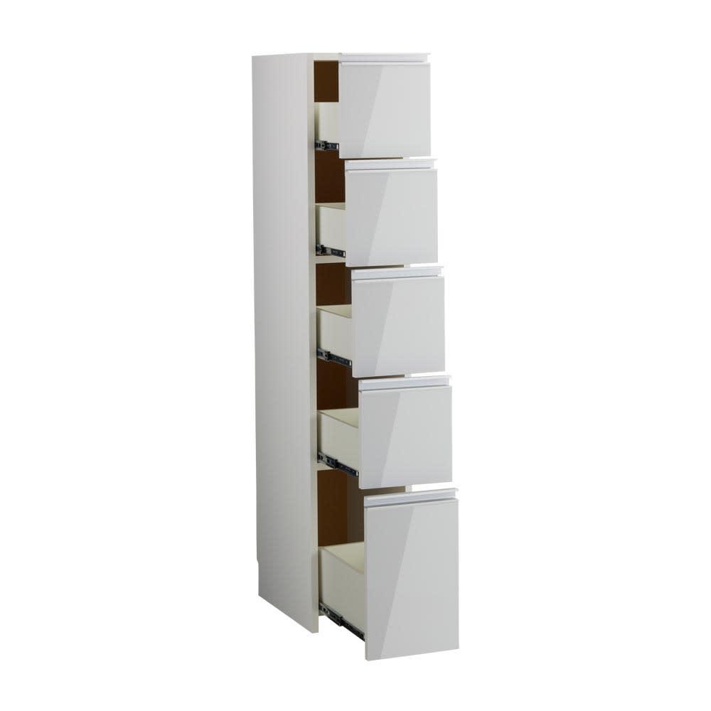 Ymir/ユミル キッチンタワーチェスト収納庫 幅30cm奥行45cm高さ156cm ホワイト お届けの商品はこちらです。