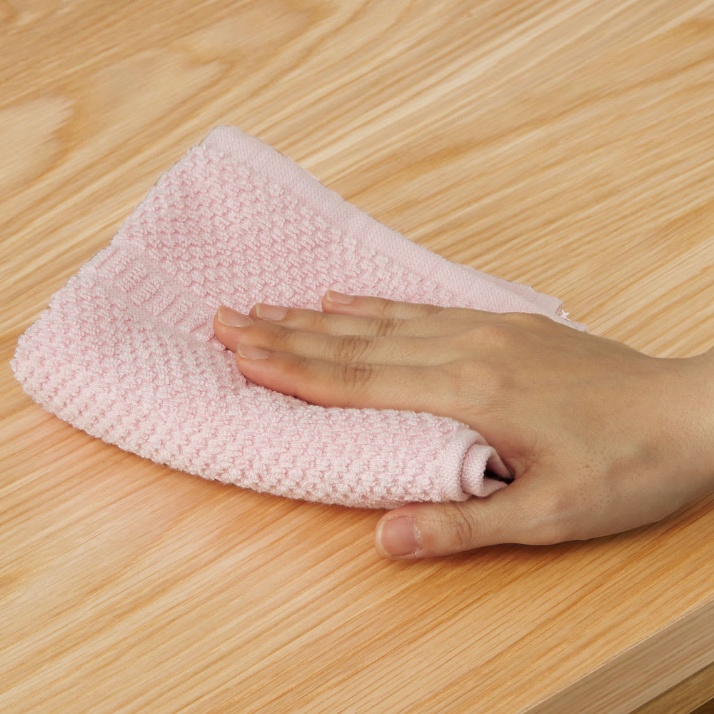 VineII/ヴィネ2 アイランドカウンターオークタイプ オーク天板 幅180cm ウレタン塗装 拭き掃除も簡単で、水まわりでの使用も安心。