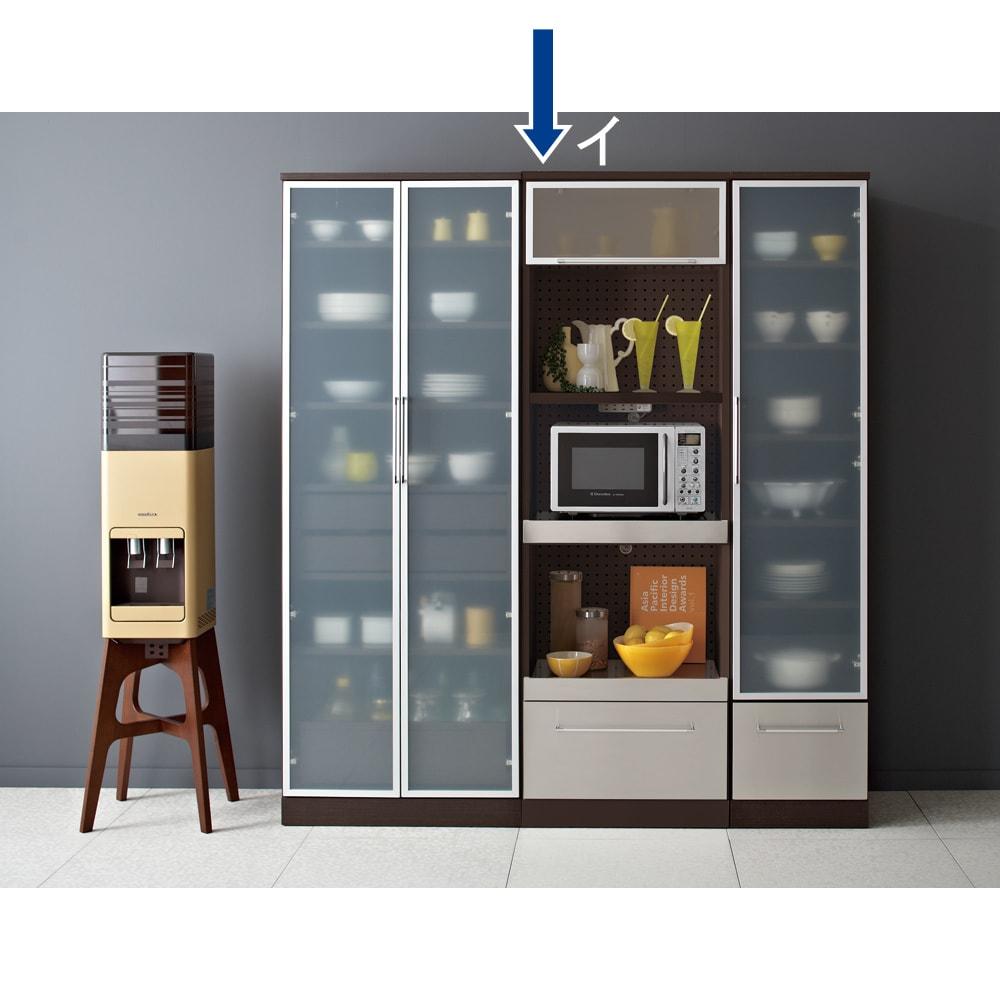 SmartII スマート2 ステンレスシリーズキッチン収納 ステンレスレンジボード 幅60cm ウエンジ色シリーズイメージ