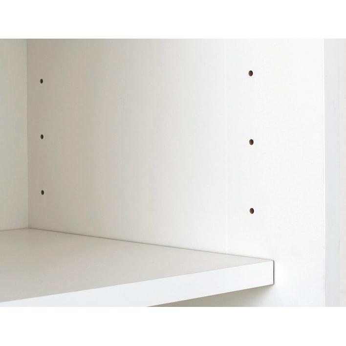 SmartII スマート2 ステンレスシリーズキッチン収納 扉内引き出し付きキッチンキャビネット 幅70cm 6センチピッチの可動棚板 キャビネットは6cmピッチでダボ穴があり、食器の大きさに合わせて高さを変えられます。