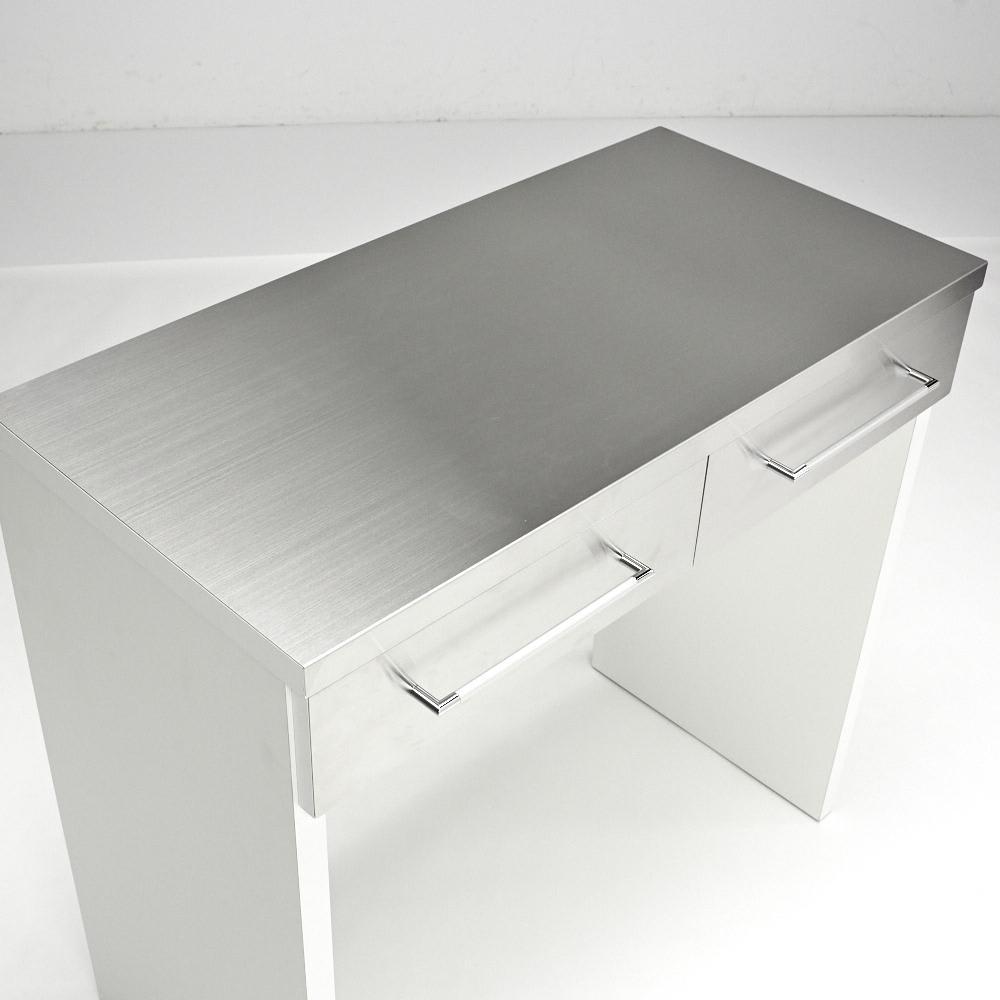 SmartII スマート2 ステンレスシリーズ 間仕切りオープンキッチンカウンター 幅90.5cm高さ85cm 天板はすべてステンレスで調理台・家電台としても。