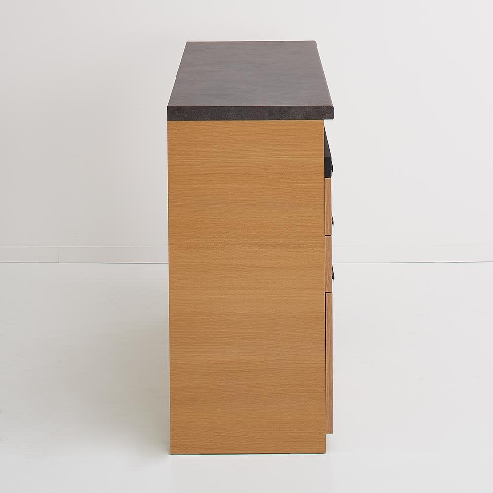 Boulder/ボルダー 石目調天板キッチンシリーズ カウンター 幅120cm 奥行45cm 側面