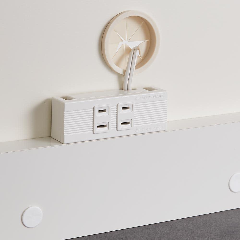 Boulder/ボルダー 石目調天板キッチンシリーズ ボード 幅140cm 奥行50cm オープン部の家電収納部にはコンセント2口(計1500W)を付属。