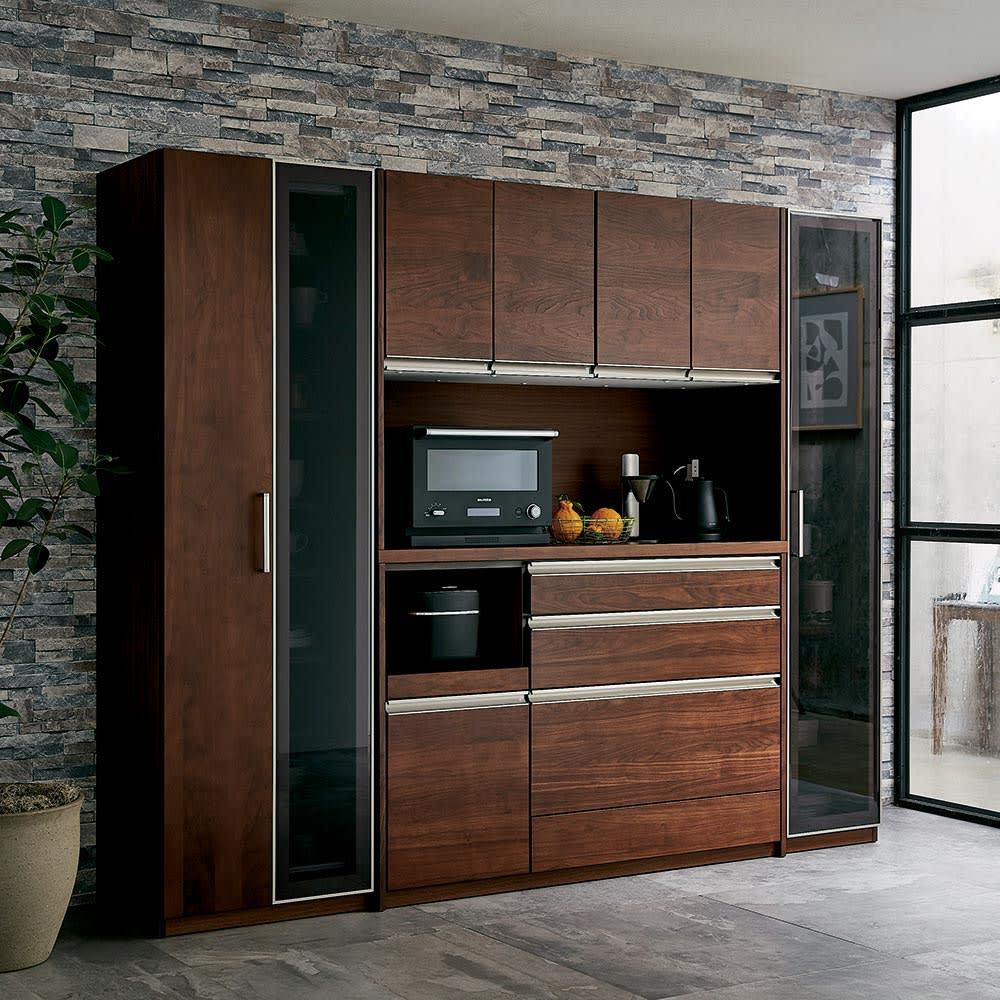 Rhone/ローヌ キッチンシリーズ オープンボード 幅140.5cm コーディネート例 ※お届けは中央「オープンボード幅140」です。