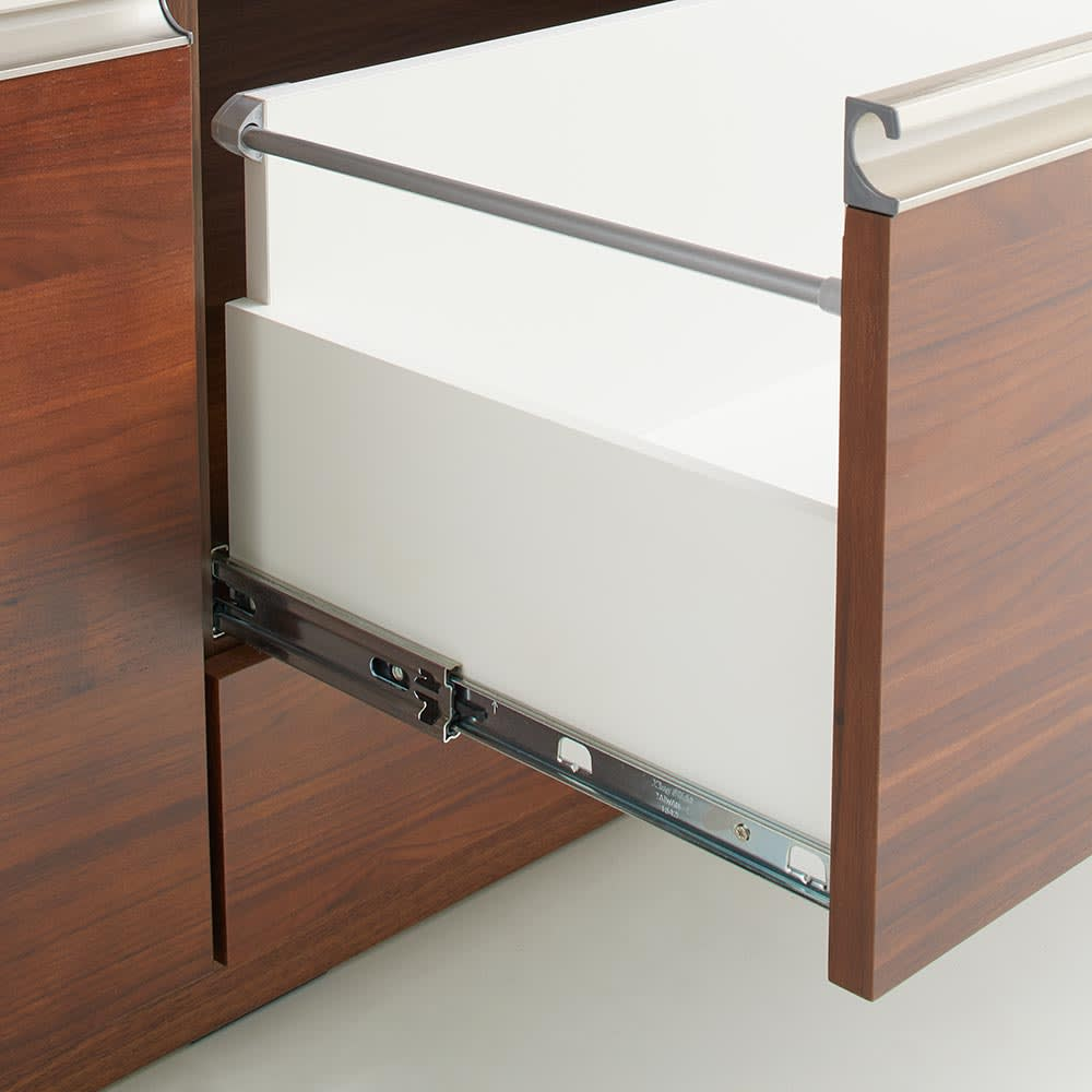 Rhone/ローヌ キッチンシリーズ オープンボード 幅140.5cm 下から1・2段目はフルスライドレール式。