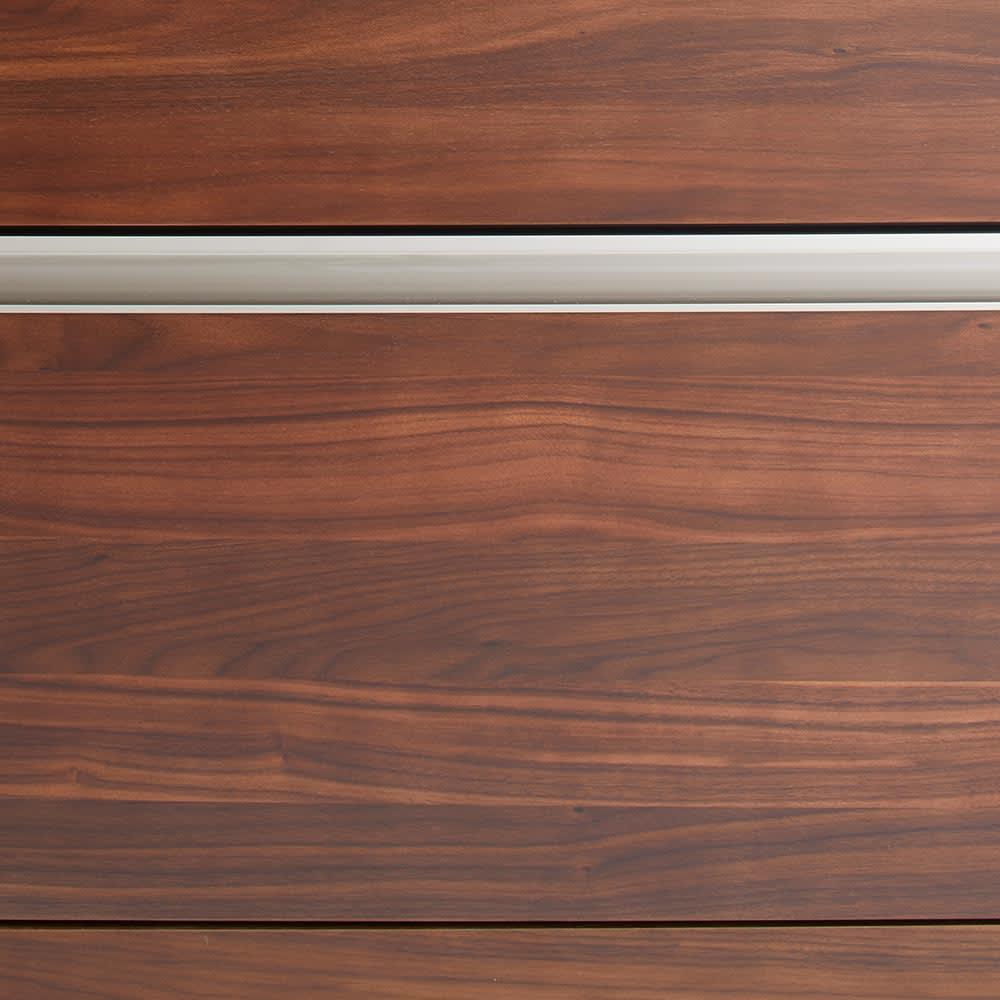 Rhone/ローヌ キッチンシリーズ オープンボード 幅140.5cm 取っ手のシルバーラインがアクセントに。