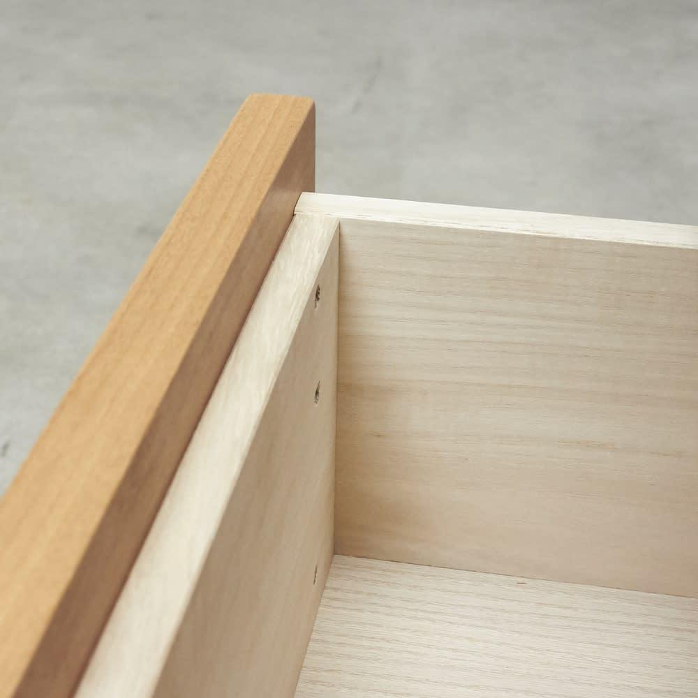 Pippi/ピッピ カウンター下収納庫 チェスト 幅45奥行23cm 引出しはしっかりとした作りの『箱組み』を採用。開け閉めが多いキッチン使いに適した作り。