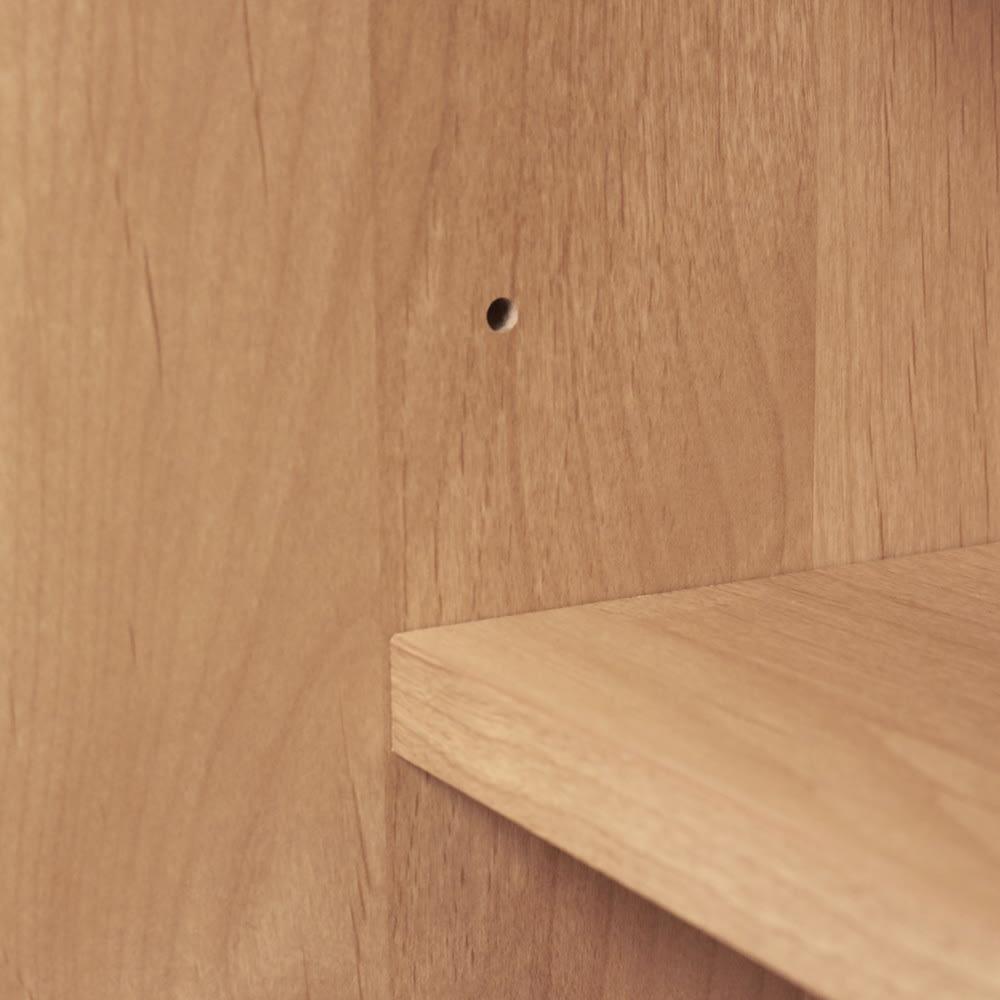 Pippi/ピッピ カウンター下収納庫 引き戸 幅150奥行23cm 棚板は可動式で収納物に合わせて細かく調整が可能です。