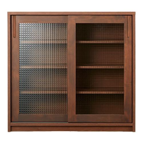 Pippi/ピッピ カウンター下収納庫 引き戸 幅150奥行23cm [色見本]ダークブラウン ※写真は引き戸幅90cmタイプです。