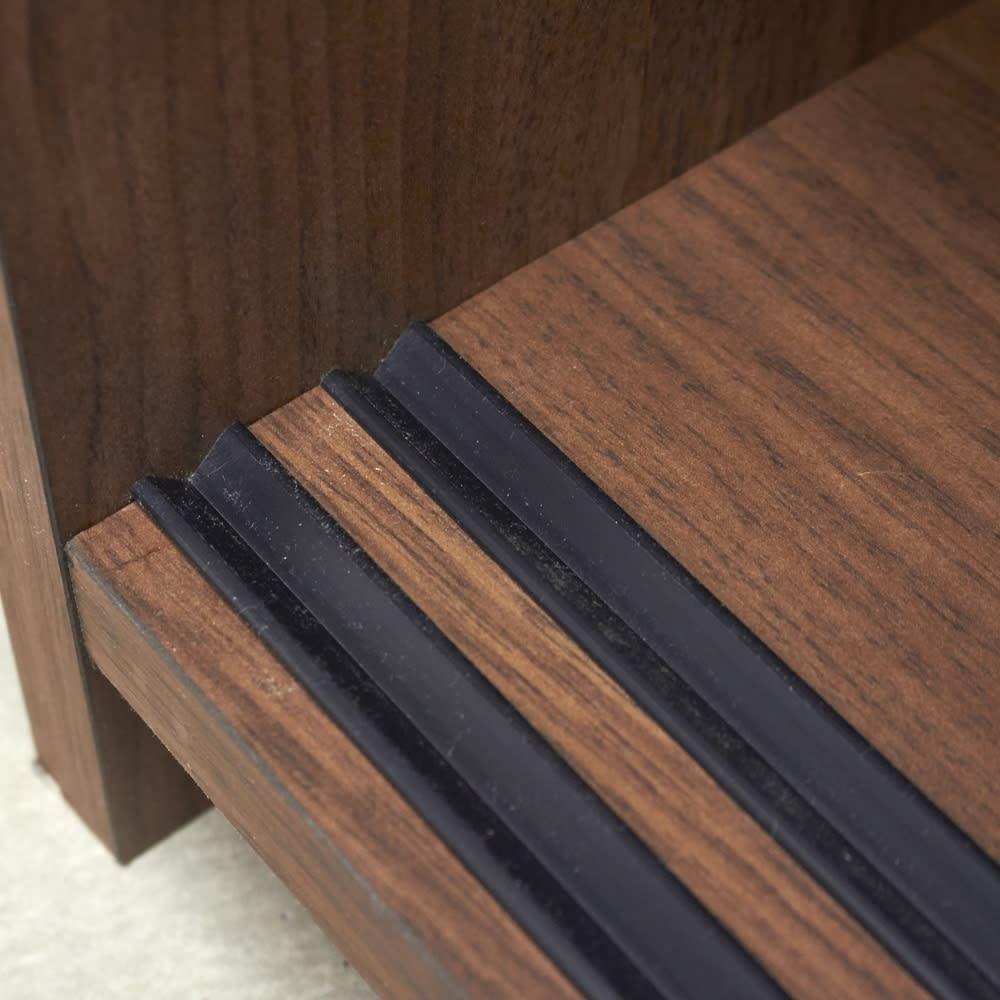 Pippi/ピッピ カウンター下収納庫 引き戸 幅150奥行32cm 引き戸はレール付きなのでなめらかに開閉します。